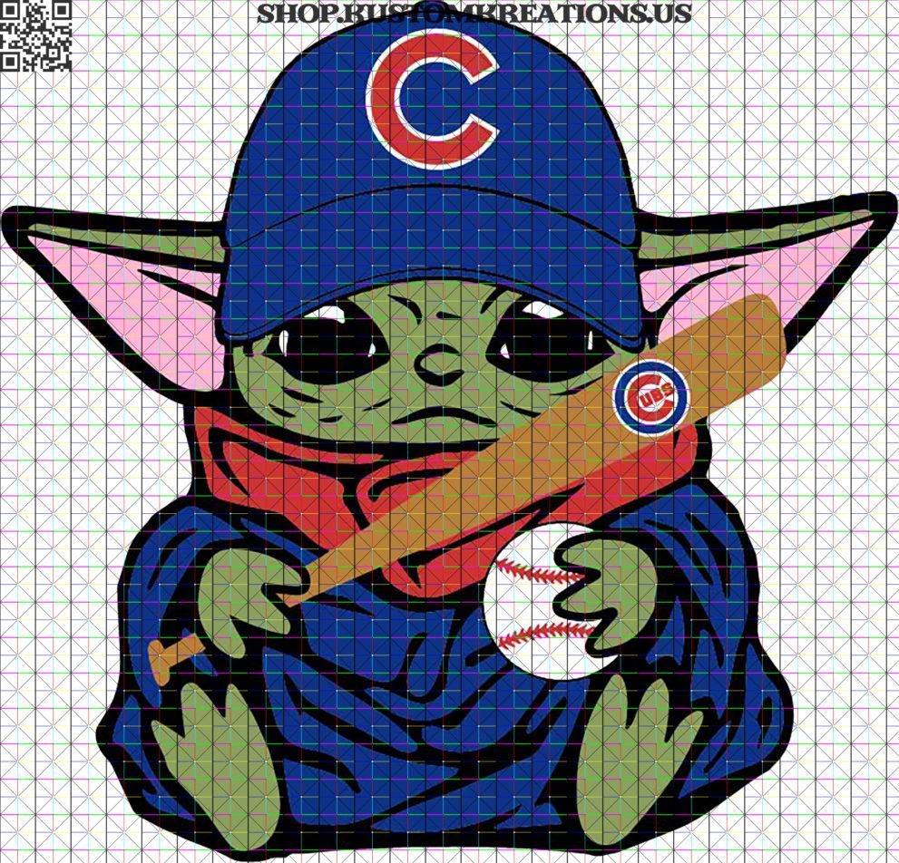 Chicago Cubs baby yoda