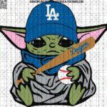 Los Angeles Dodgers Baby Yoda-50