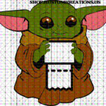 Baby Yoda with Toilet paper
