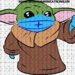 This is a SVG image of Baby Yoda with a Medical Mask. #BabyYoda, #SVG, #Starwars, #Sublimation, #TheChild, #KustomKreationsus, #png, #disney, #covid19, #coronavirus, #lockdown, #quarantine