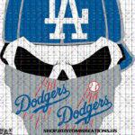 This is a SVG image of a Dodger Skull with hat and bandanna. #dodgers #mlb #baseball #losangeles #dodgerstadium #ladodgers #la #losangelesdodgers #itfdb #lableedsblue #bleedblue #letsgododgers #thinkblue #dodgersbaseball #dodgersnation #codybellinger #chavezravine #welovela #worldseries #gododgers #california