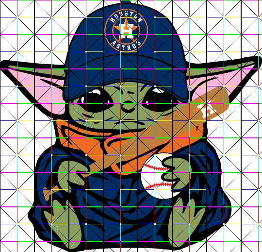 Baby Yoda With Houston Astros Baseball